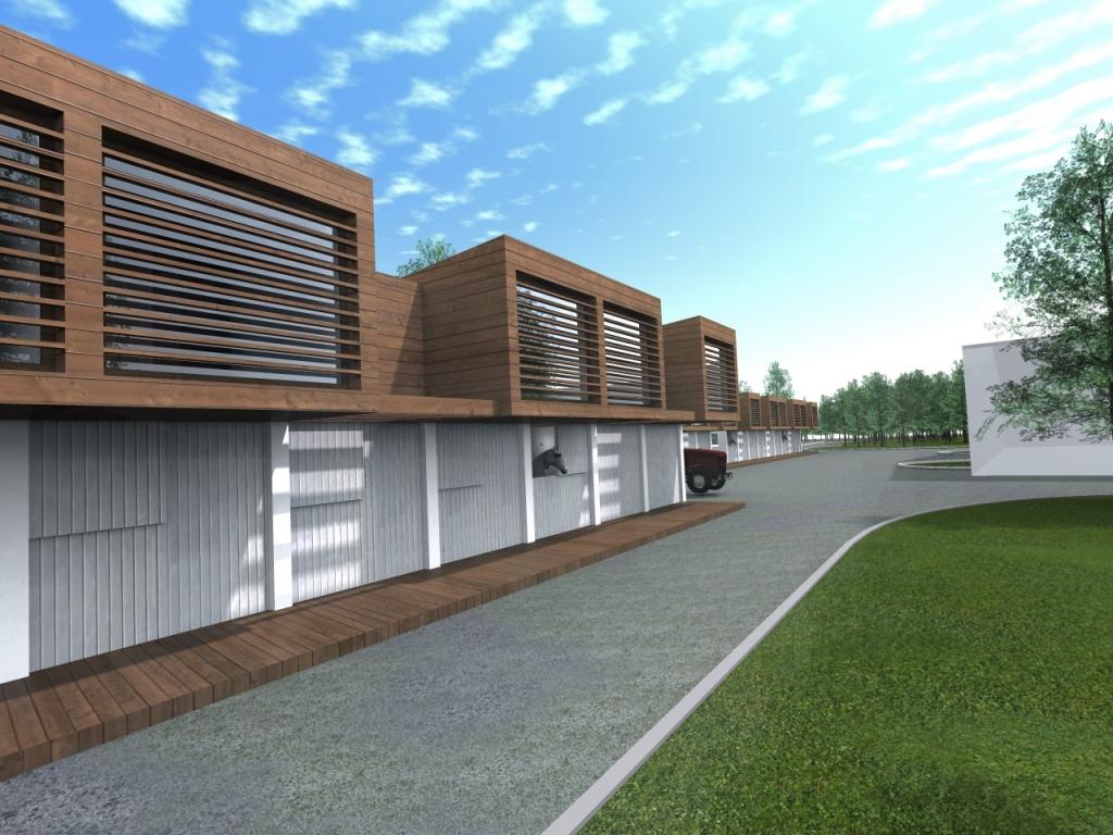 Idejna zasnova za manj zahteven objekt - hlev nad 100m2.